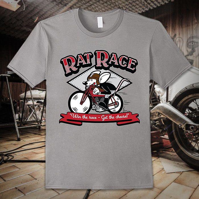 Rat Race Vintage Motorcycle T Shirt